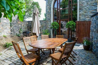 Gîte charmant á Saint-Jean-Sart avec piscine privée et sauna