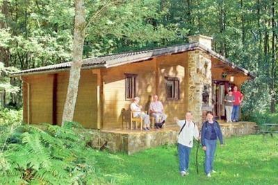 Chalet confortable en bois avec micro-ondes, situé en forêt