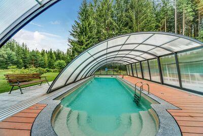 Maison de vacances confortable avec piscine à Jägersgrün