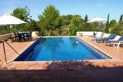 Villa américaine, claire, avec piscine à St Joan de Labritja
