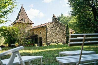 Maison de vacances cosy à Villefranche-du-Périgord, jardin