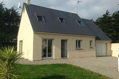 Maison de vacances face à la mer avec jardin à Denneville