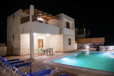 Villa luxueuse à Bali en Crète avec piscine privée