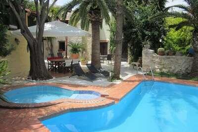Villa tranquille à Giannoudi en Crète avec piscine