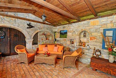 Maison de vacances avec piscine à Sveti Lovrec en Croatie