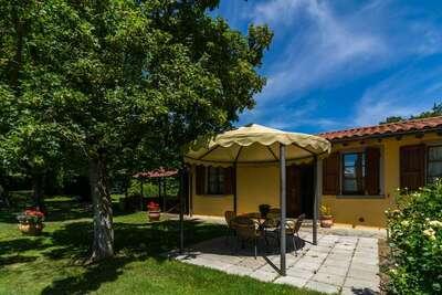 Agritourisme avec grand jardin, terrasse privée, piscine panoramique et vins biologiques