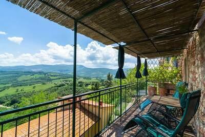 Maison de vacances avec balcon Montecastelli Pisano Toscane