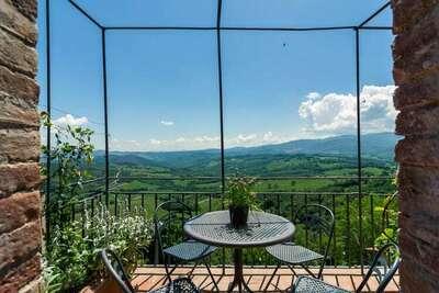 Superbe maison de vacances en Toscane avec terrasse privée