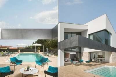 Luxueuse villa avec piscine, terrasse couverte, trampoline, plage à 2 km