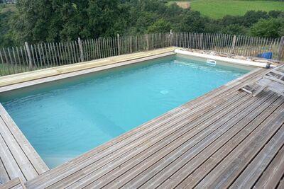 Complexe de deux maisons louées en 1 avec piscine privée et belle vue